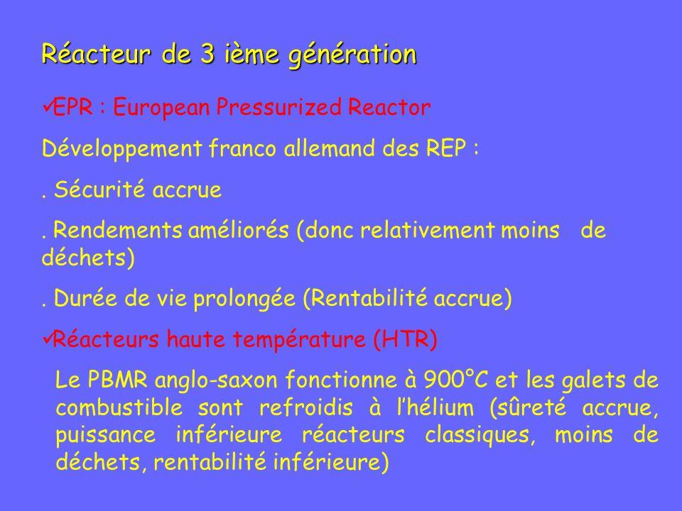 Réacteur de 3 ième génération
