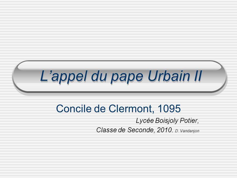 L'appel du pape Urbain II