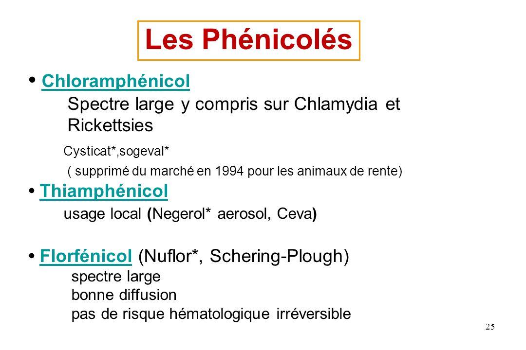 Les Phénicolés • Chloramphénicol Cysticat*,sogeval*