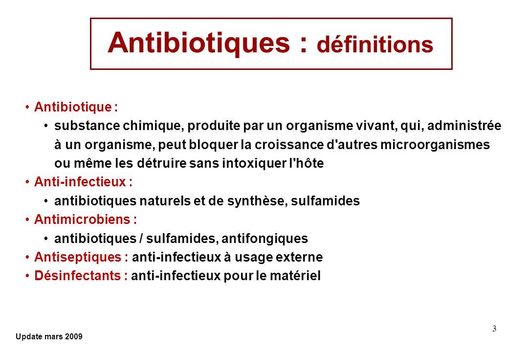 Antibiotiques : définitions