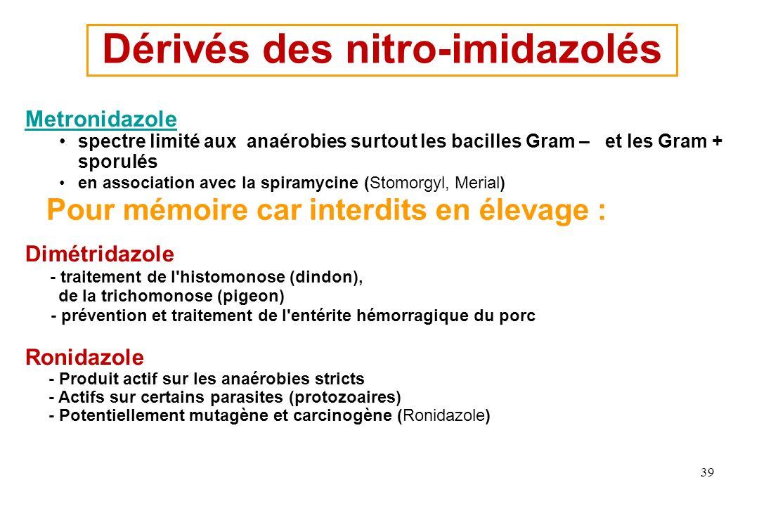 Dérivés des nitro-imidazolés