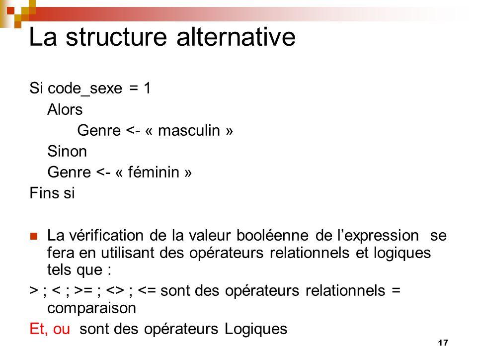 La structure alternative