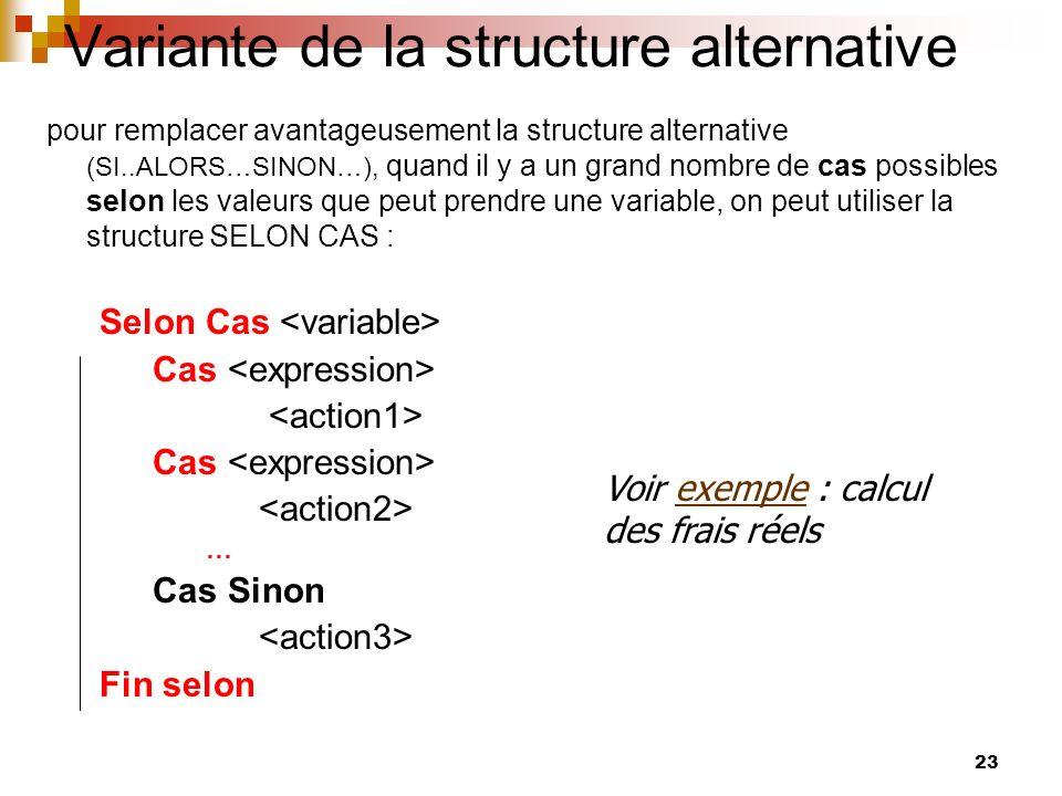 Variante de la structure alternative
