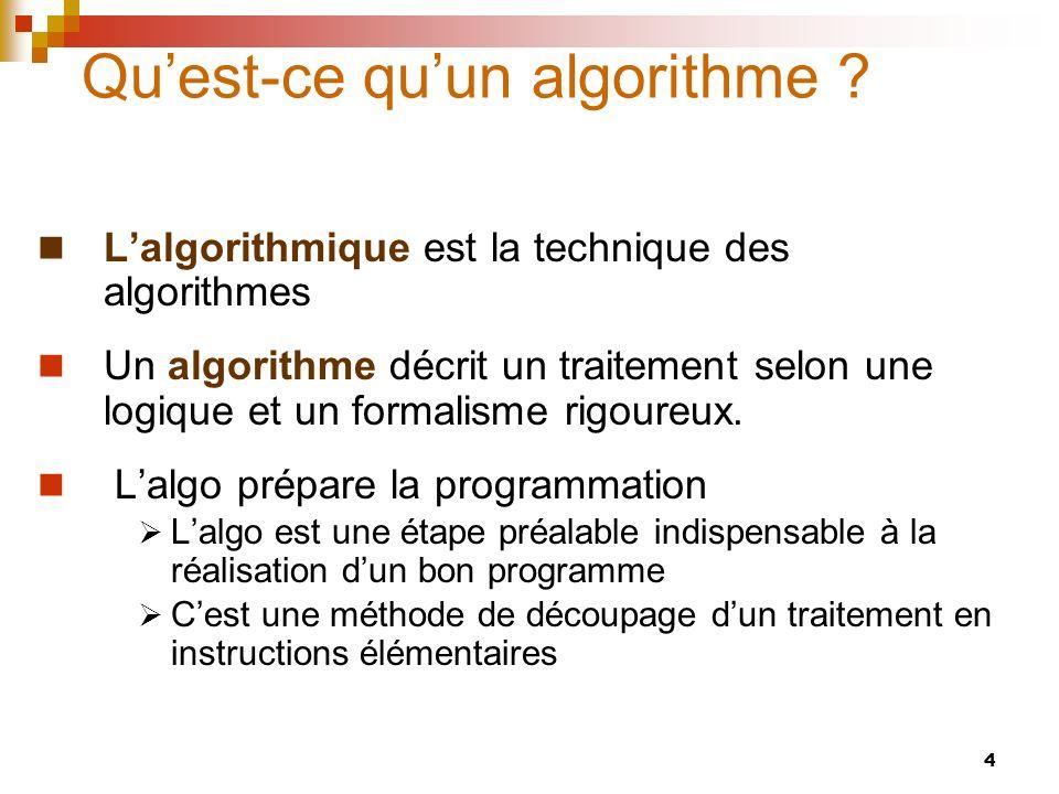 Qu'est-ce qu'un algorithme