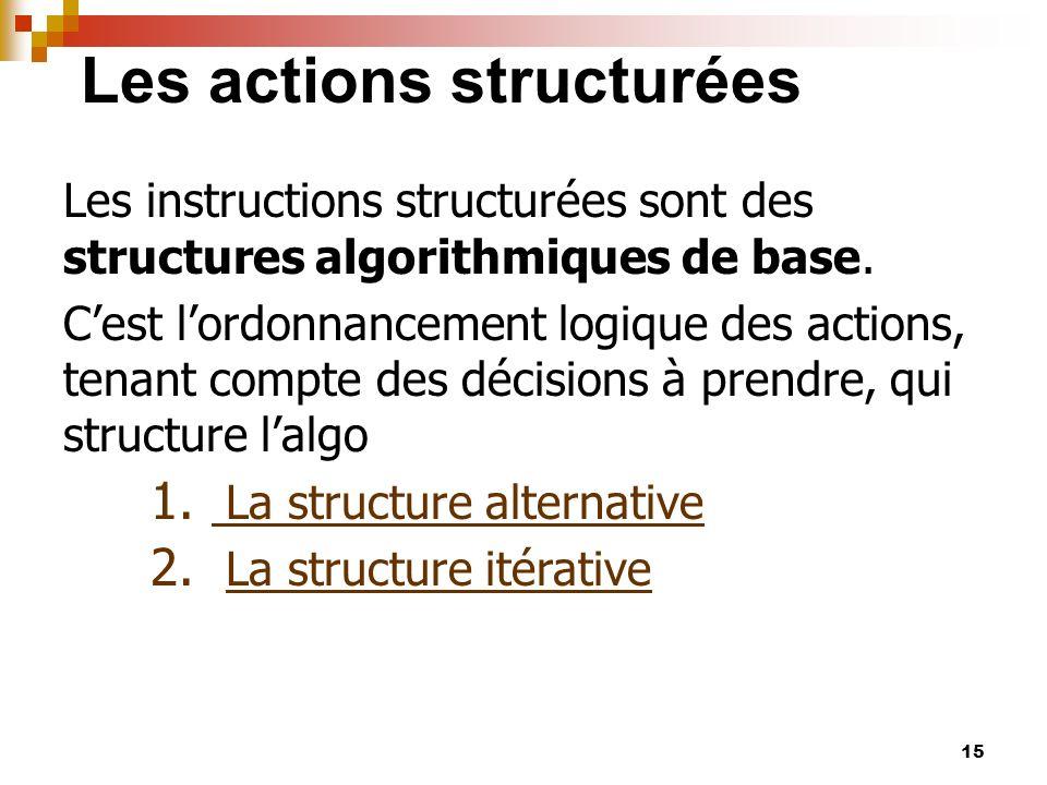 Les actions structurées