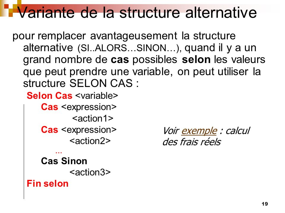Variante de la structure alternative