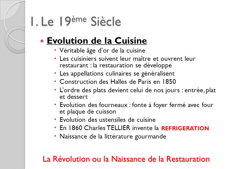 La Révolution ou la Naissance de la Restauration