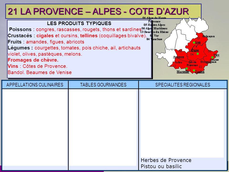 21 LA PROVENCE – ALPES - COTE D'AZUR