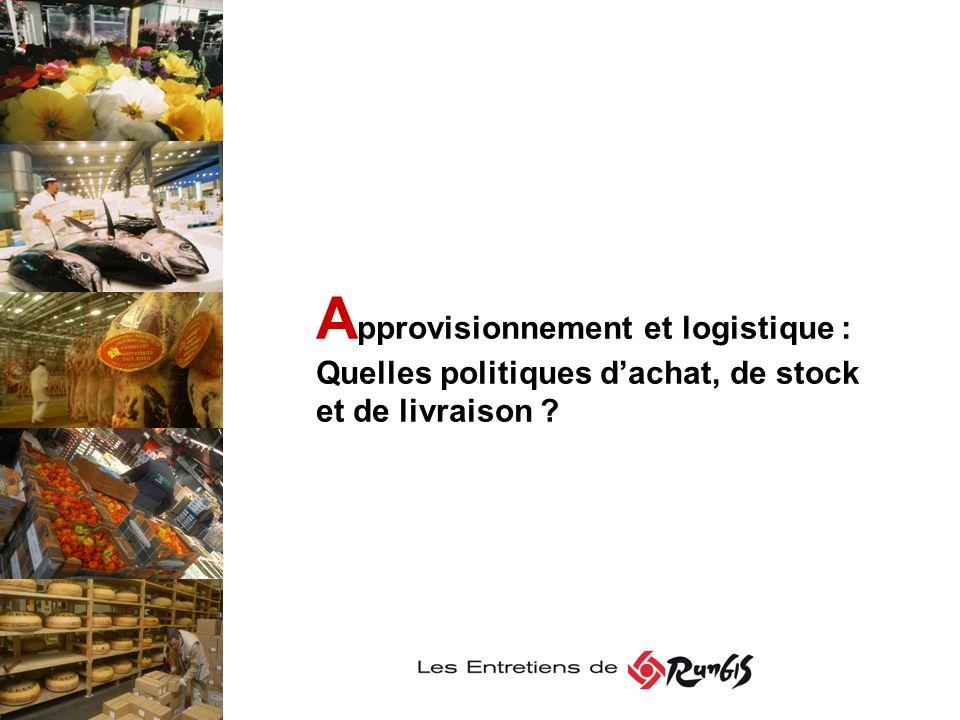 Approvisionnement et logistique : Quelles politiques d'achat, de stock et de livraison