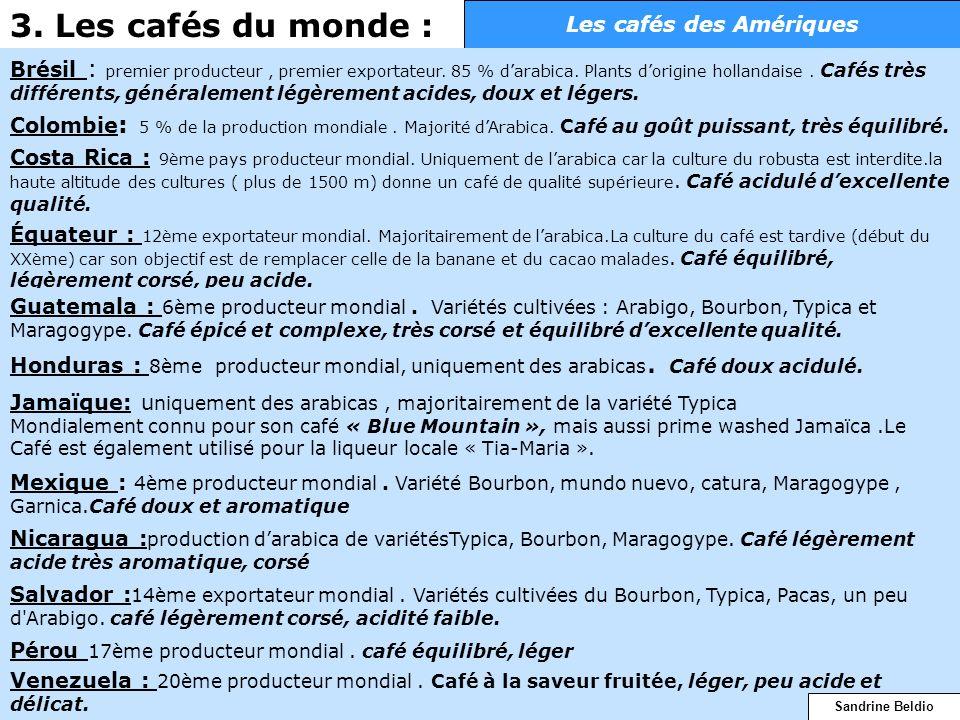 Les cafés des Amériques