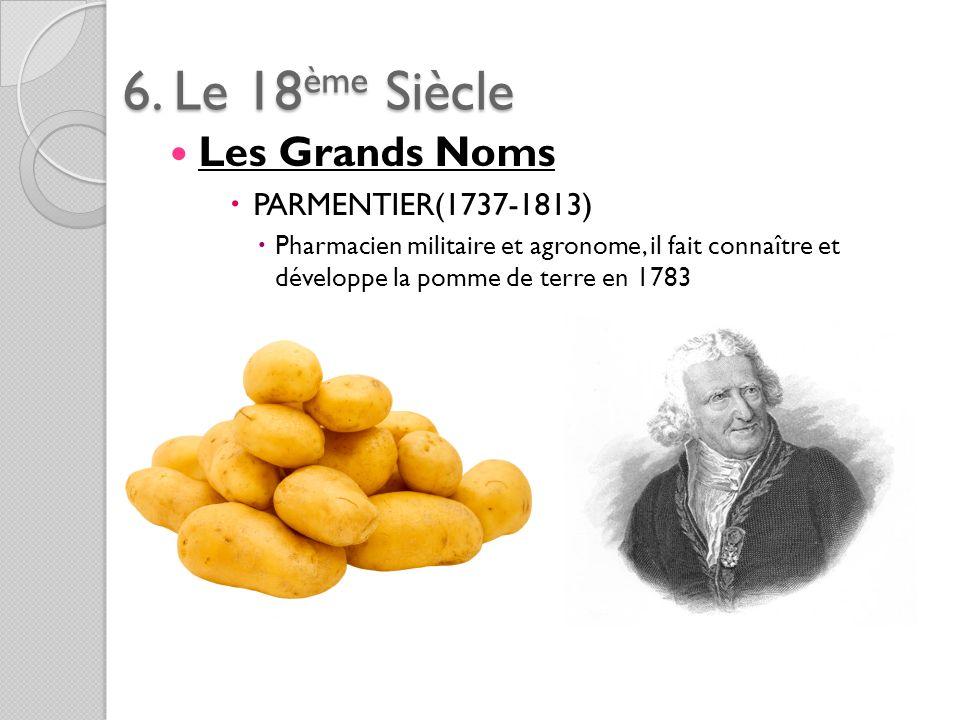 6. Le 18ème Siècle Les Grands Noms PARMENTIER(1737-1813)