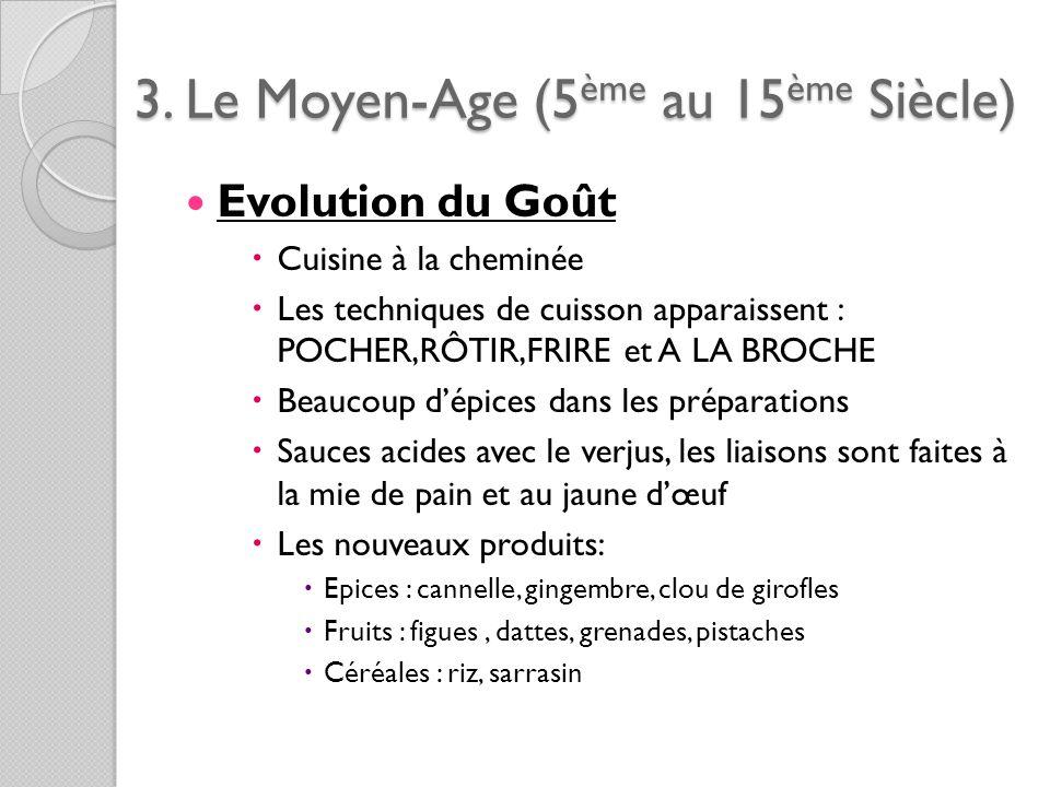 3. Le Moyen-Age (5ème au 15ème Siècle)
