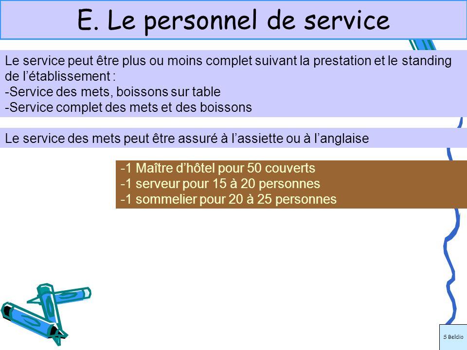 E. Le personnel de service