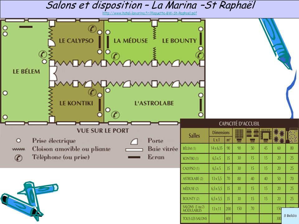Salons et disposition – La Marina –St Raphaël