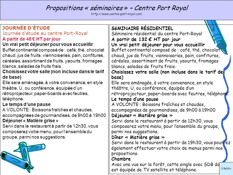 Propositions « séminaires » – Centre Port Royal