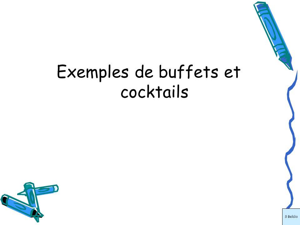 Exemples de buffets et cocktails