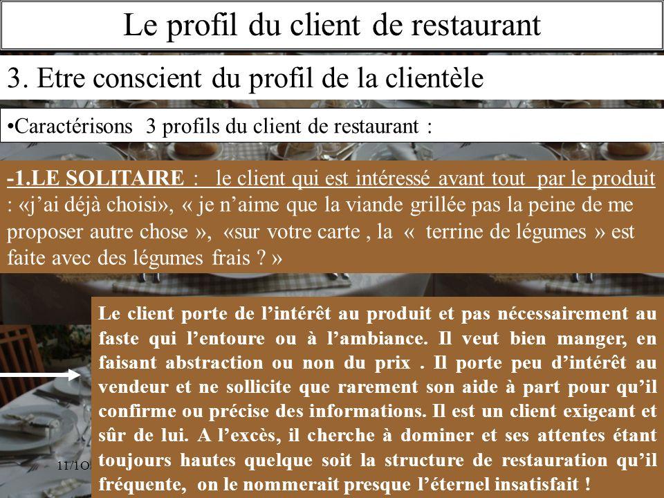 Le profil du client de restaurant