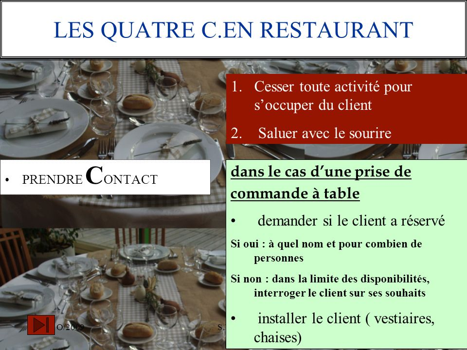 LES QUATRE C.EN RESTAURANT