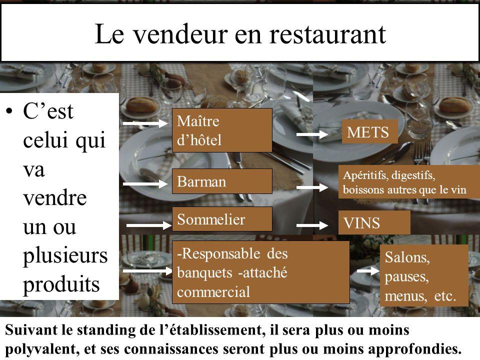 Le vendeur en restaurant