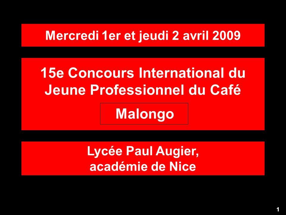 15e Concours International du Jeune Professionnel du Café