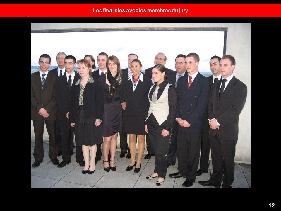 Les finalistes avec les membres du jury