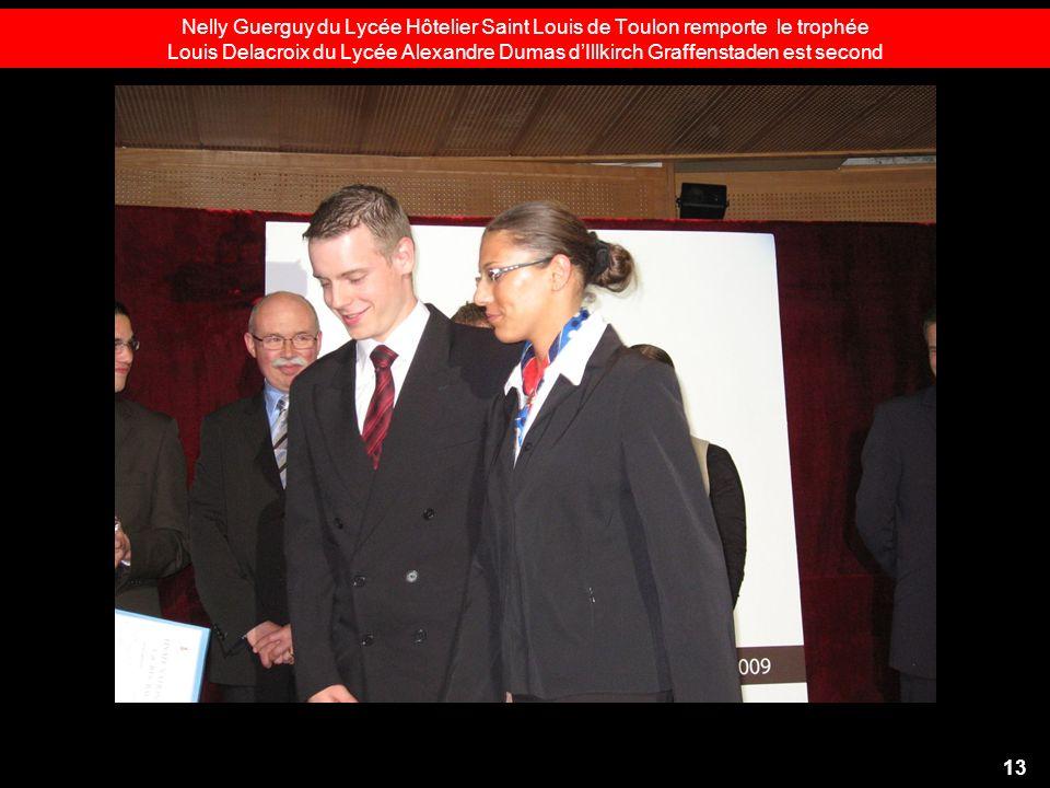 Nelly Guerguy du Lycée Hôtelier Saint Louis de Toulon remporte le trophée Louis Delacroix du Lycée Alexandre Dumas d'Illkirch Graffenstaden est second