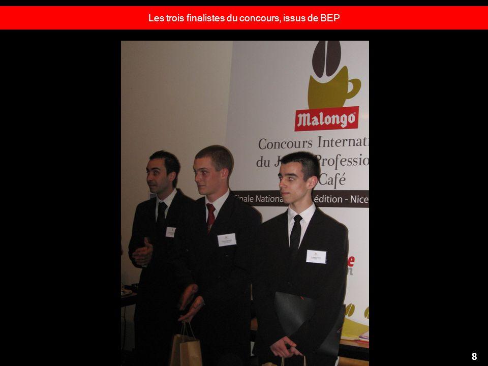Les trois finalistes du concours, issus de BEP