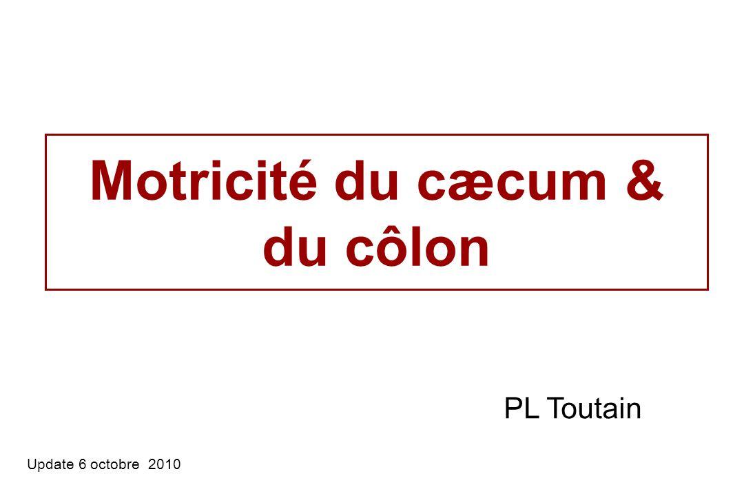 Motricité du cæcum & du côlon