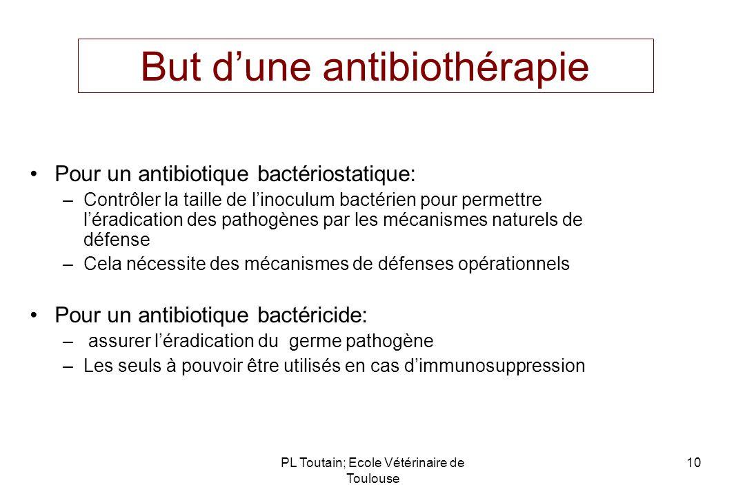 But d'une antibiothérapie