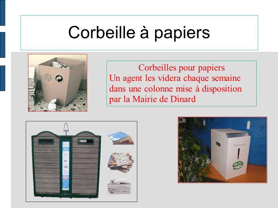 Corbeilles pour papiers