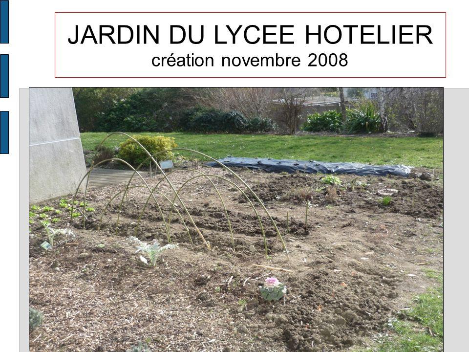 JARDIN DU LYCEE HOTELIER création novembre 2008