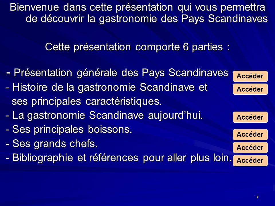 Cette présentation comporte 6 parties :