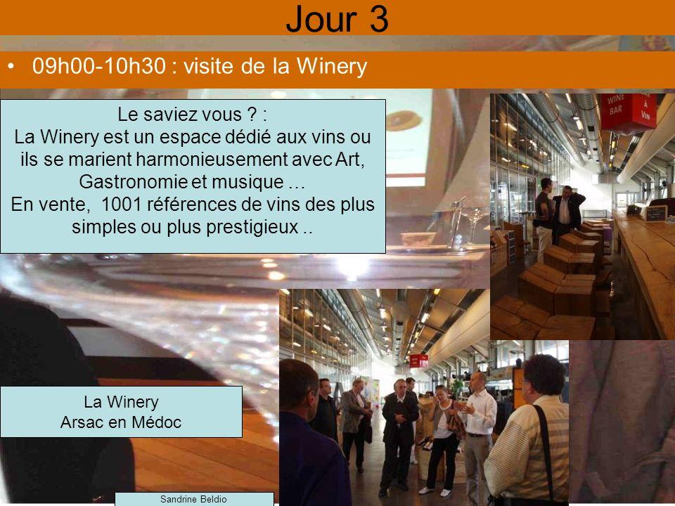 Jour 3 09h00-10h30 : visite de la Winery Le saviez vous :