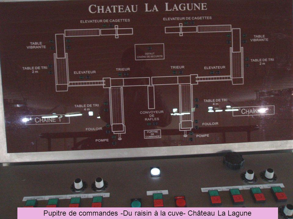 Pupitre de commandes -Du raisin à la cuve- Château La Lagune