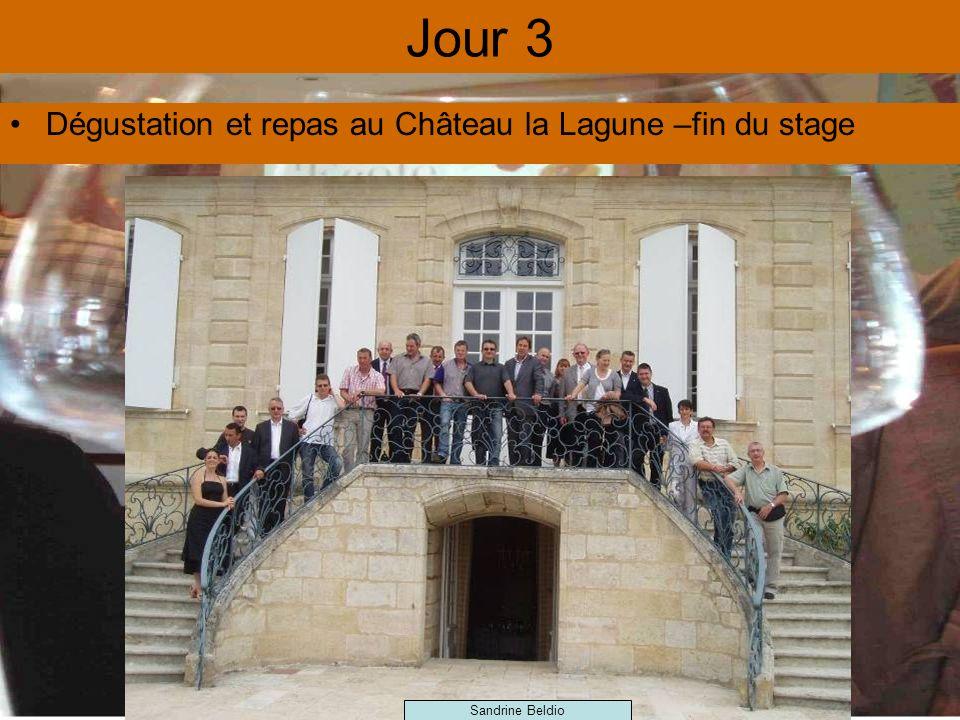 Jour 3 Dégustation et repas au Château la Lagune –fin du stage