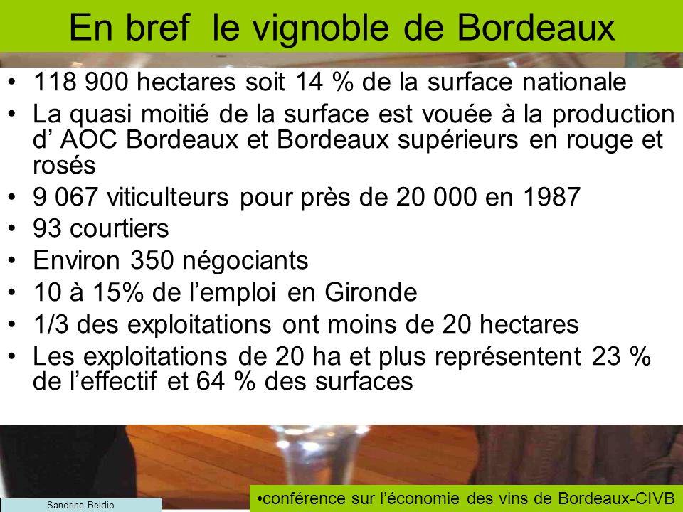 En bref le vignoble de Bordeaux