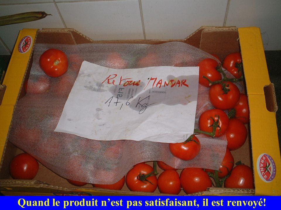 Quand le produit n'est pas satisfaisant, il est renvoyé!