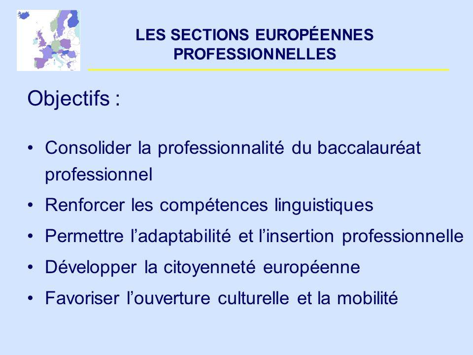 LES SECTIONS EUROPÉENNES PROFESSIONNELLES