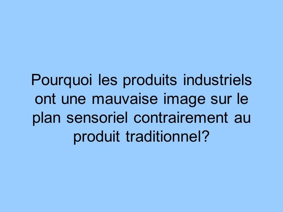 Pourquoi les produits industriels ont une mauvaise image sur le plan sensoriel contrairement au produit traditionnel