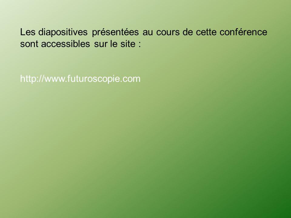 Les diapositives présentées au cours de cette conférence sont accessibles sur le site :