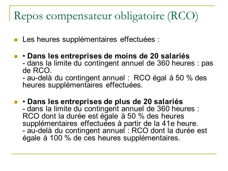 Repos compensateur obligatoire (RCO)