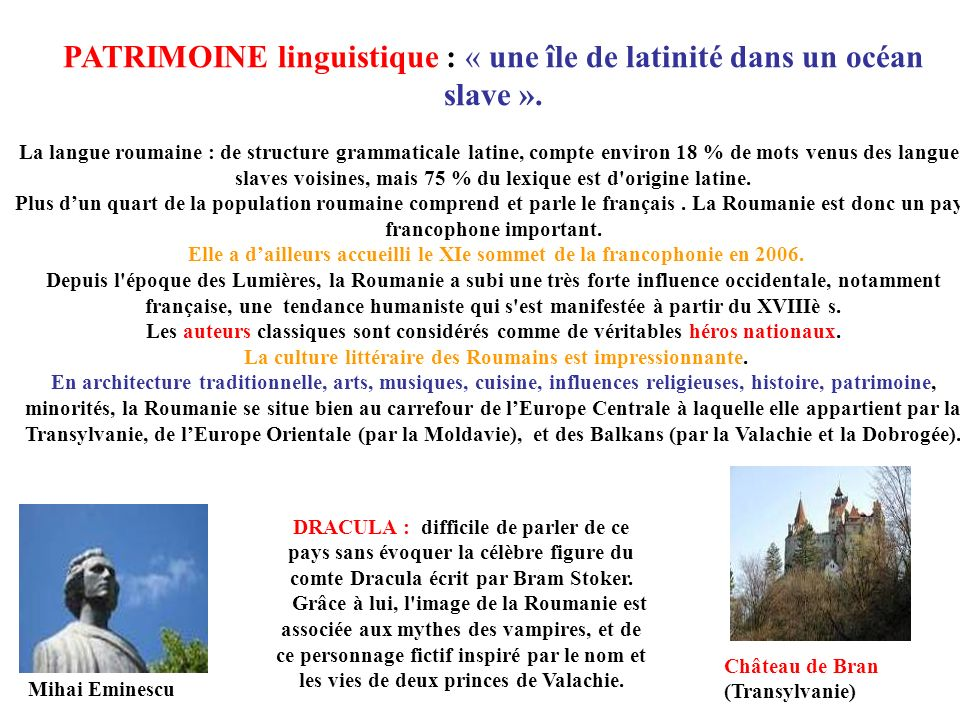 Elle a d'ailleurs accueilli le XIe sommet de la francophonie en 2006.