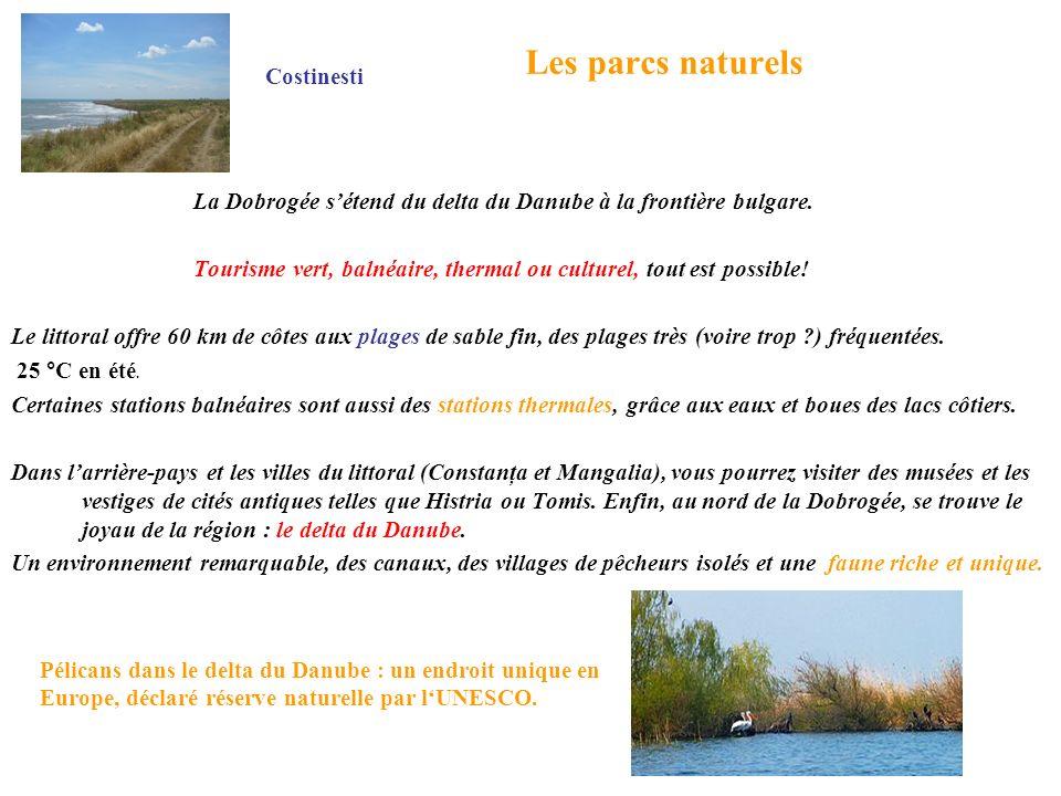 Les parcs naturels Costinesti