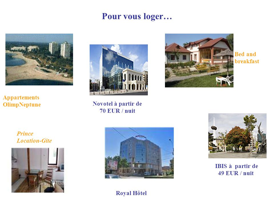 Pour vous loger… Bed and breakfast Appartements OlimpNeptune