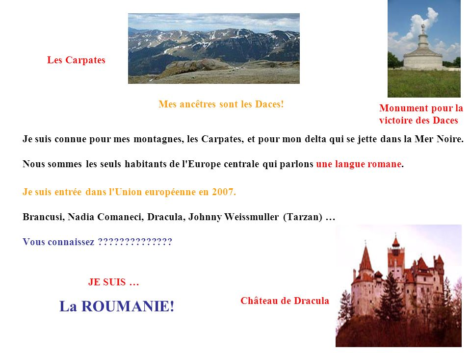 La ROUMANIE! Les Carpates Mes ancêtres sont les Daces!