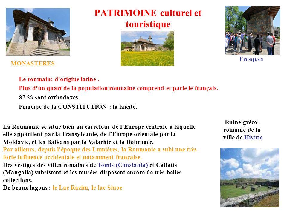 PATRIMOINE culturel et touristique
