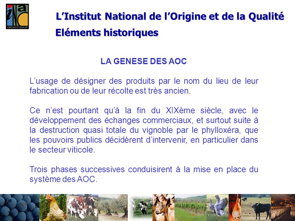 L'Institut National de l'Origine et de la Qualité