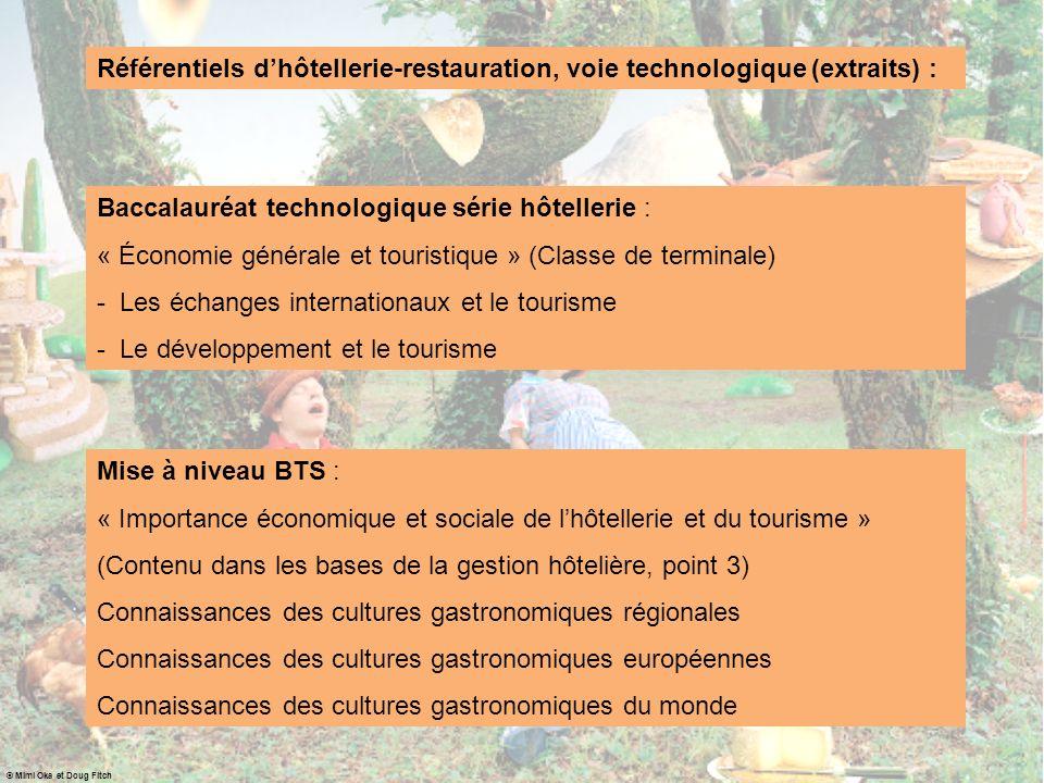 Baccalauréat technologique série hôtellerie :