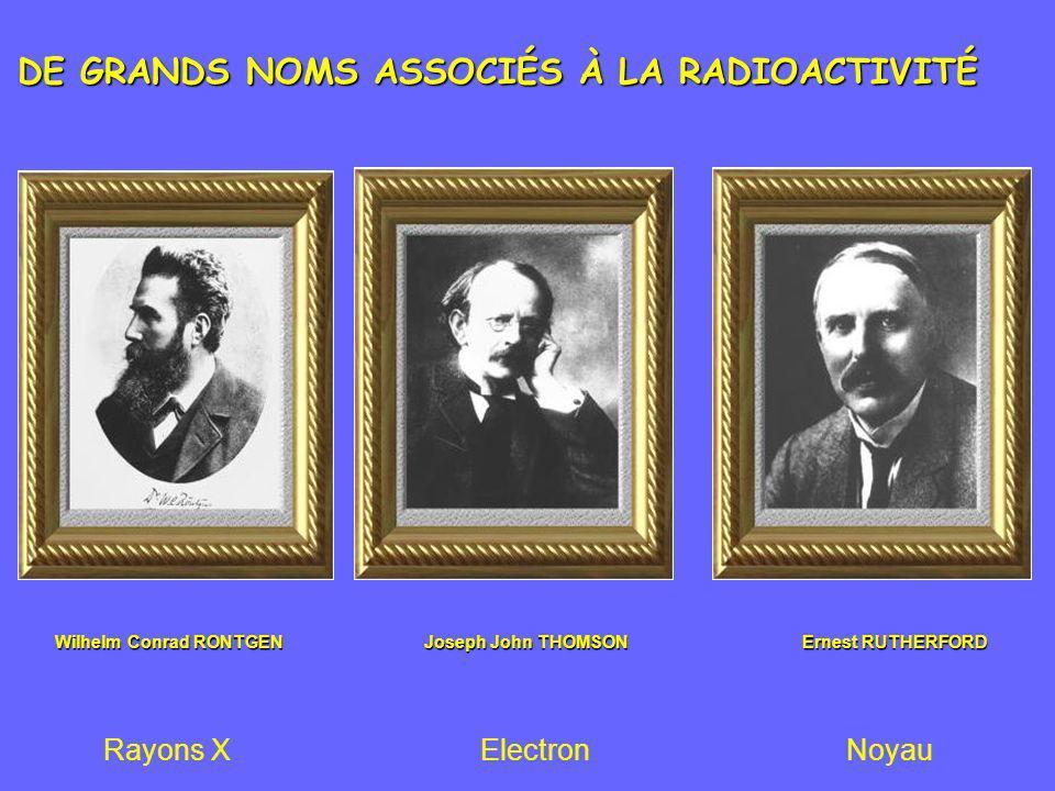 DE GRANDS NOMS ASSOCIÉS À LA RADIOACTIVITÉ