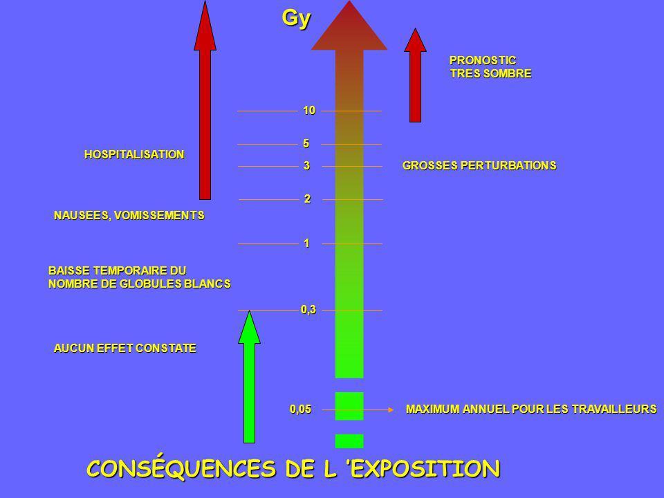CONSÉQUENCES DE L 'EXPOSITION